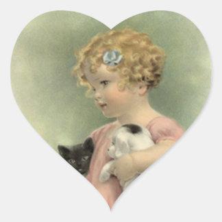 AufkleberVintage viktorianische Herz-Aufkleber