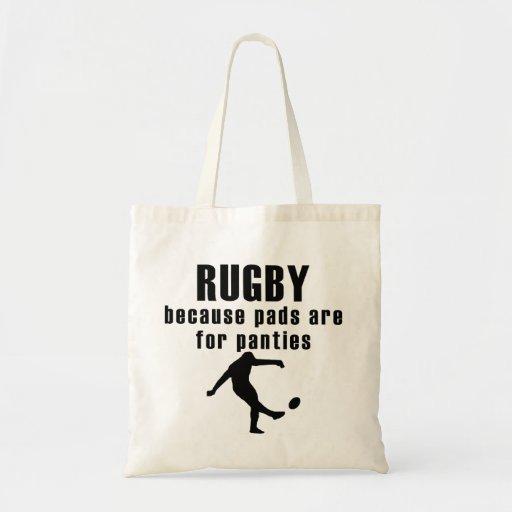 Auflagen sind für Schlüpfer-Rugby Einkaufstasche