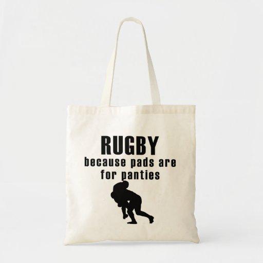 Auflagen sind für Schlüpfer-Rugby Tragetaschen