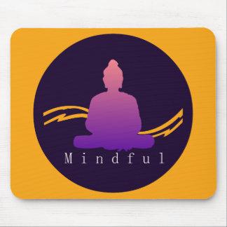 """""""Aufmerksamer"""" schöner Buddha Mousepad"""