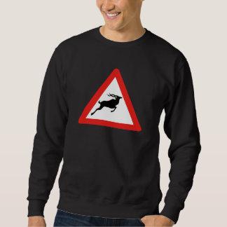 Aufmerksamkeit Kudus, Verkehrszeichen, Südafrika Sweatshirt