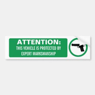 Aufmerksamkeits-Feuerwaffen-Autoaufkleber