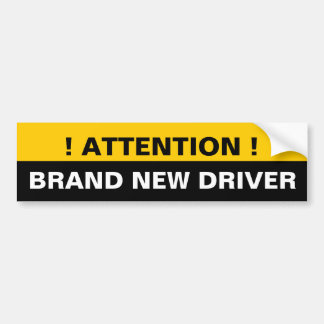Aufmerksamkeits-nagelneue Fahrer-Warnung Autoaufkleber