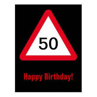 Aufmerksamkeits-Zeichen: 50. Geburtstag Postkarte