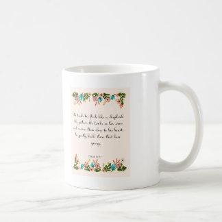 Aufmunternde Bibel versifiziert Kunst - Kaffeetasse