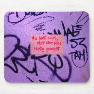 Aufmunterndes Mousepad StreetArt
