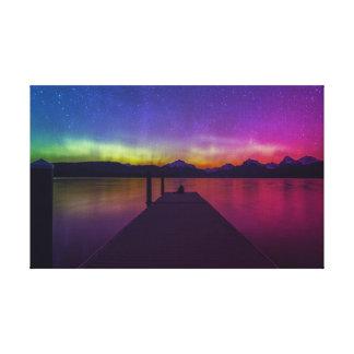 Aufpassen der Aurora Borealis Leinwanddruck