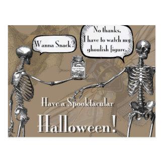 Aufpassen meiner Ghoulish Zahl Postkarte