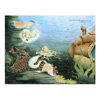 """Aufpassende"""" sammelbare Postkarte """"des Wals"""
