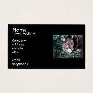 Aufpassender Puma Visitenkarte