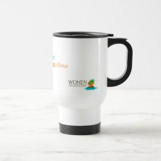 Aufrecht stehende (ish) Bürger-Reise-Kaffee-Tasse