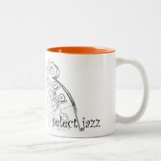 Aufrechter Bass-Jazz coffe Becher Zweifarbige Tasse