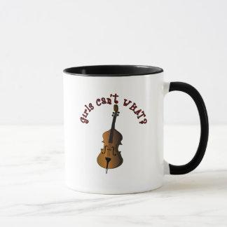 Aufrechter Schnur-Kontrabass-Spieler Tasse
