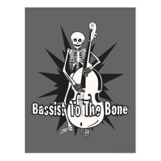 Aufrechtes spielendes Bass-Skelett Postkarte