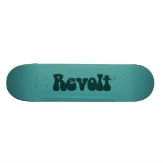 Aufruhr - dunkelgrün auf Ozean-Grün 19,1 Cm Old School Skateboard Deck
