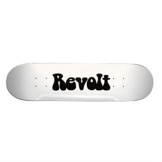 Aufruhr - Schwarzes auf Weiß Skateboard Deck