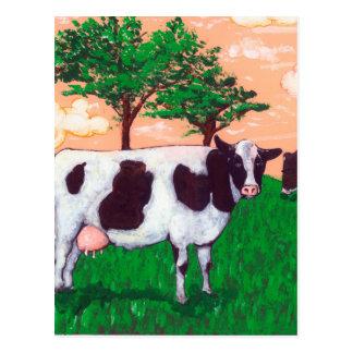 Aufsässige Milchkuh Postkarte