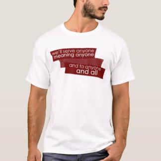Aufschlag jedermann T-Shirt