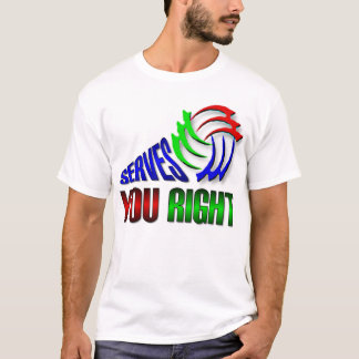 Aufschläge Sie recht T-Shirt