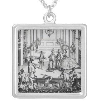 Aufstand am Covent Garten-Theater im Jahre 1763 Halskette Mit Quadratischem Anhänger