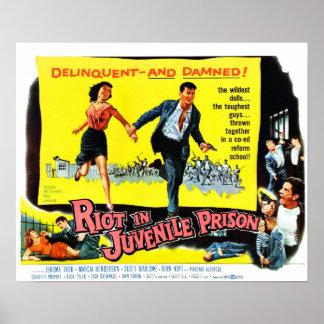 Aufstand im jugendlichen Gefängnis Poster