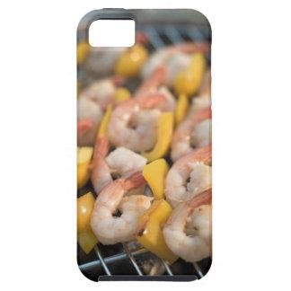 Aufsteckspindel mit gegrillten Garnelen und Etui Fürs iPhone 5
