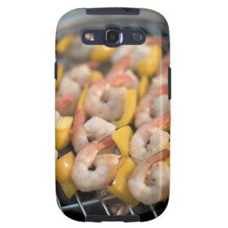 Aufsteckspindel mit gegrillten Garnelen und Pfeffe Samsung Galaxy S3 Hülle