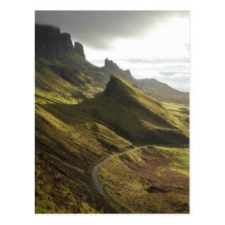 Aufsteigende Straße das Quiraing, Insel von Skye, Postkarte