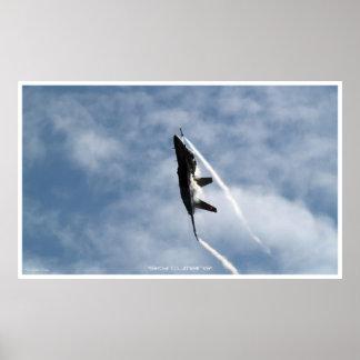 Aufsteigendes Düsenjäger-Plakat der Hornissen-F-18 Poster