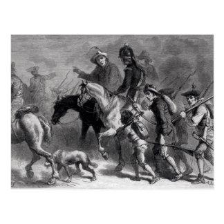 Aufstieg des Neu-Englands Yeomanry Postkarte