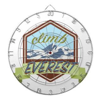 Aufstieg Everest Dartscheibe