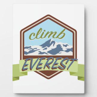 Aufstieg Everest Fotoplatte
