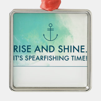 Aufstieg und glänzen es ist Spearfishing Zeit Silbernes Ornament