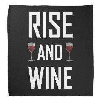 Aufstieg und Wein-Gläser Kopftuch