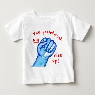 Aufstiegs-Gerechtigkeitsproletariat steigt oben Baby T-shirt