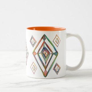 Aufstiegs-und Shine-Tasse Zweifarbige Tasse