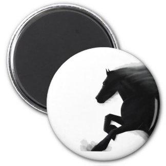 Auftauchender Stallion Runder Magnet 5,7 Cm