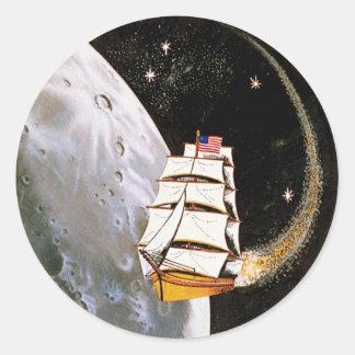 Auftrag-Flecken Apollo 12 Runder Aufkleber