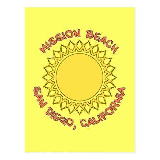 Auftrag-Strand, San Diego, Kalifornien Postkarte