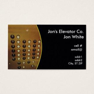 Aufzugsplatte Visitenkarte