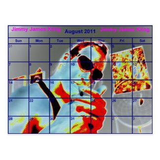 Aug JIMMY JAMES KiiNG Postkarte