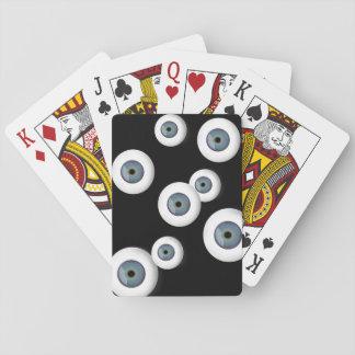 Augapfel-Spielkarte-schwarzer Hintergrund Spielkarten