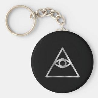 Auge Cao Dai religiöser Ikone Providence Standard Runder Schlüsselanhänger