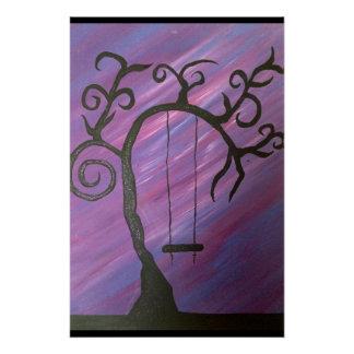 Auge, das Acrylmalerei fasziniert Poster
