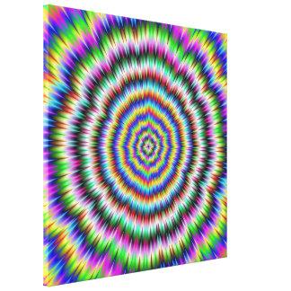 Auge, das psychedelischen Druck verwirrt Leinwanddruck