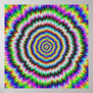 Auge, das psychedelisches Plakat verwirrt