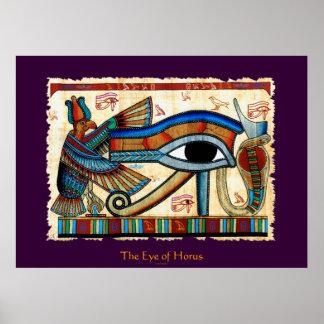 AUGE der HORUS Ägypter-Kunst Poster