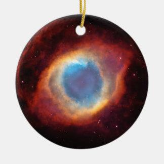 Auge des Gott-Schneckennebelflecks spielt rote Rundes Keramik Ornament