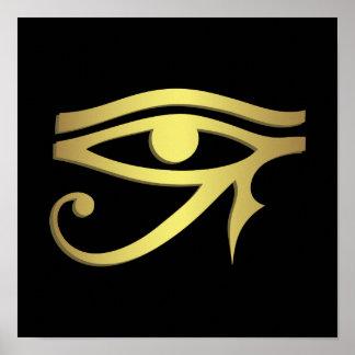 Auge des horus Ägyptersymbols Poster