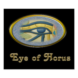 Auge Horus des ägyptischen Gottplakats Poster